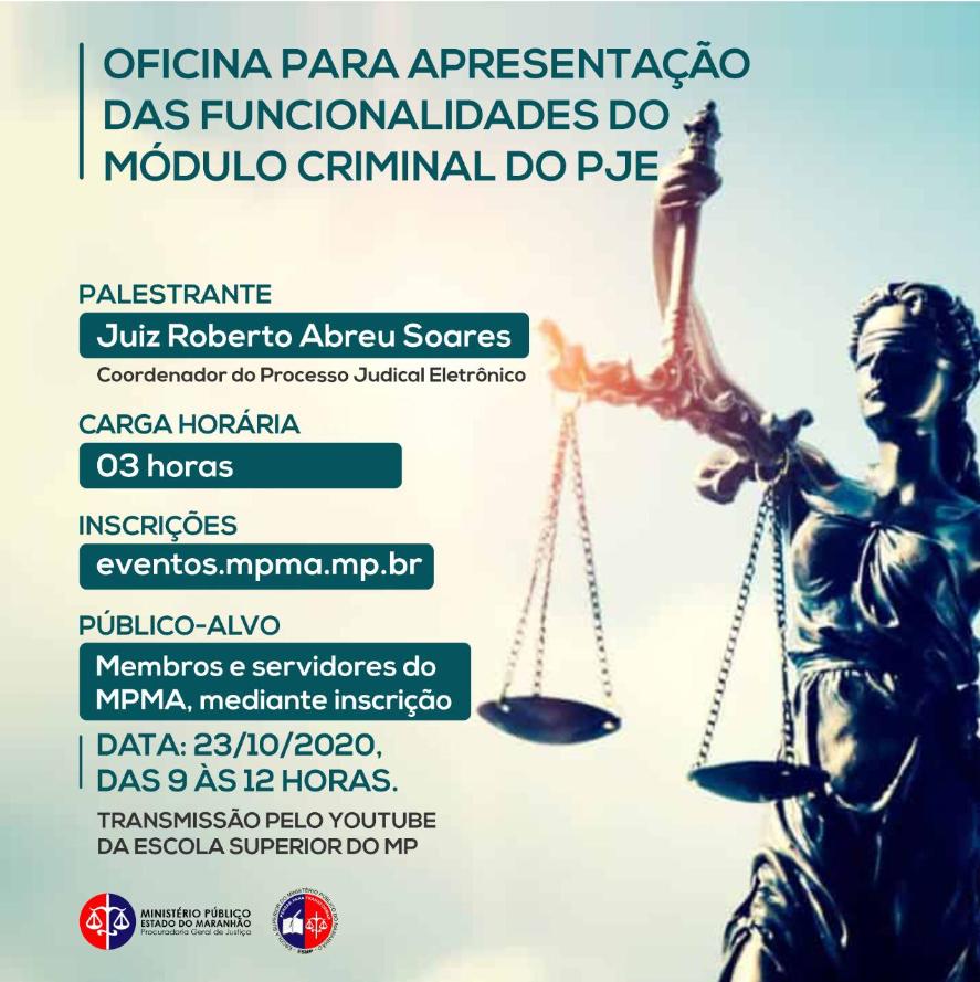 """""""Oficina para apresentação das funcionalidades do Módulo Criminal do PJE"""""""