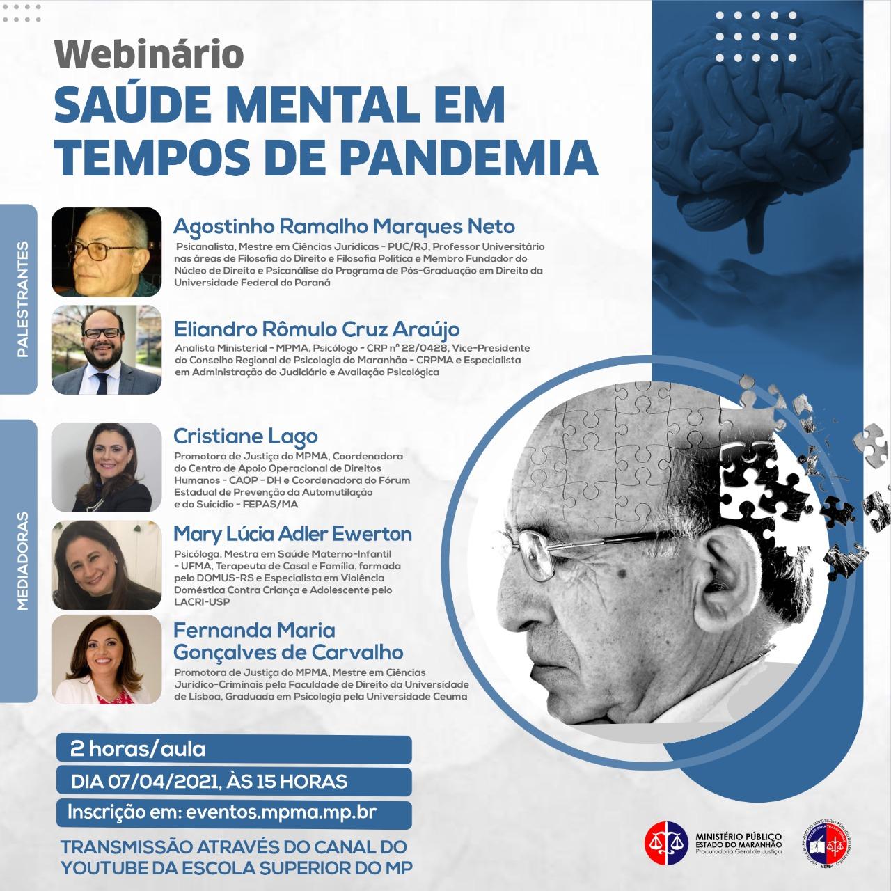 Webinário sobre Saúde Mental em Tempos de Pandemia