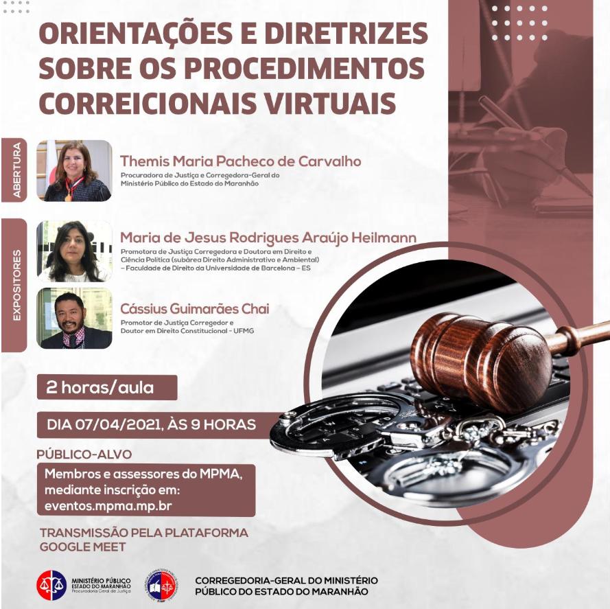 Orientações do Procedimento Correcional Virtual Calendário e Diretrizes 2021
