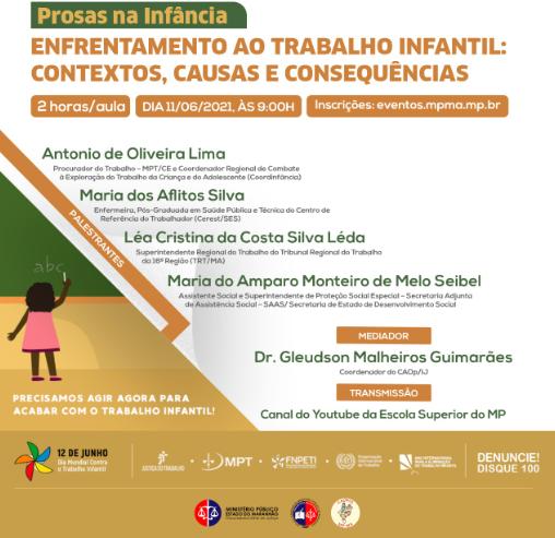 Prosas na Infância - Enfrentamento ao Trabalho Infantil: contextos, causas e consequências.