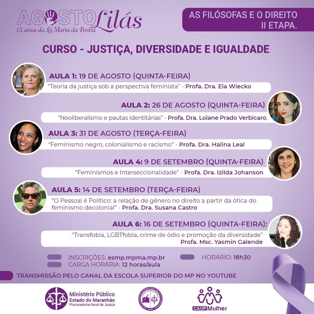 As Filósofas e o Direito II - Justiça, Diversidade e Igualdade